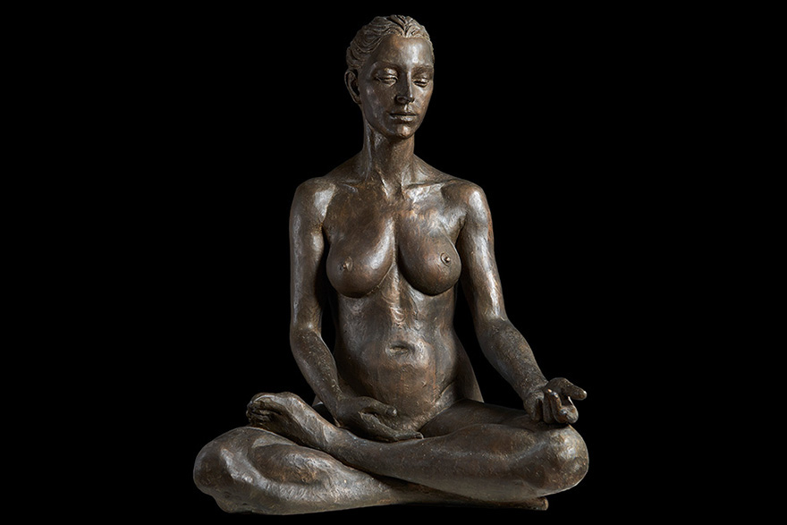 Meditatione 63 x 55 x 87 cm Bronze
