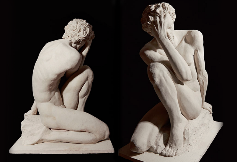 Oedipus 89 x 65 x53 cm High Temperature Clay